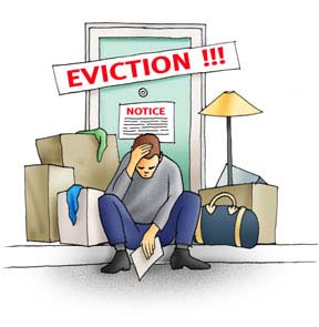 Carton with eviction notie