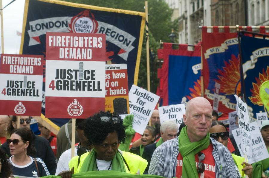 Image result for firefighters fbu grenfell